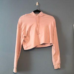 Light pink cropped hoddie
